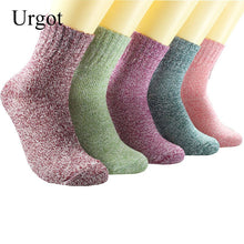 Load image into Gallery viewer, Urgot 5 Pairs Women's Wool Socks 2020 New Japanese Style Cute Girls Socks Autumn Winter Wool Thicker Warm Sock Meias Calcetines