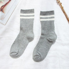 Load image into Gallery viewer, Urgot 5 Pairs 2020 New Gold and Silver Silk Women Socks Striped Long Tube Female Socks Trend Harajuku College Wind Cotton Socks