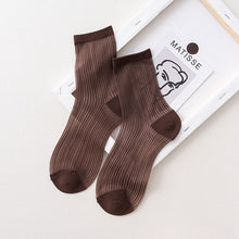 Load image into Gallery viewer, Urgot 5 Pairs Women Spring Summer New Socks Female Tide Japanese Breathable Candy Solid Color Girls Ladies Cute Sexy Sock Meias