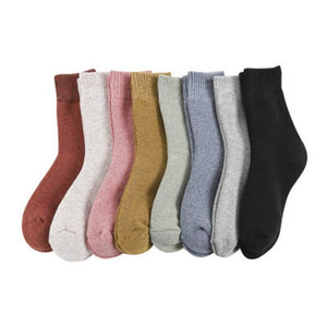 Urgot 3 Pairs Winter Warm Socks For Womens Solid Color Thick Wool Rabbit Hair Socks Snow Against Cold Warm Cotton Sock Sox Meias
