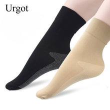 Load image into Gallery viewer, Urgot 5 Pairs Women's Autumn And Winter Goose Down Plus Cotton Bottom Short Tube Socks Thick Anti-Hook Female Sock Calcetines