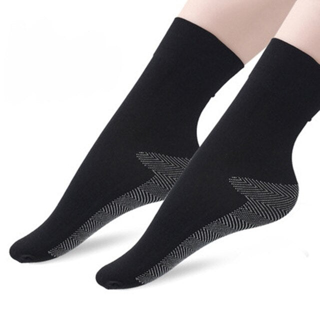 Urgot 5 Pairs Women's Autumn And Winter Goose Down Plus Cotton Bottom Short Tube Socks Thick Anti-Hook Female Sock Calcetines