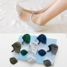 Load image into Gallery viewer, 5 Pairs Summer Woman Socks Glass Silk Crystal Stretchy Calcetines Low Cut Socks Women's Sexy Elastic Ankle Meias Boat Socks Sox