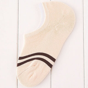 5 Pairs Women Ankle Sock Lovely Striped Fashion Casual Comfortable Women Socks Summer Thin Non-slip Deodorant Cotton Sock Meias