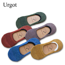 Load image into Gallery viewer, Urgot 10 Pairs Women's Summer Cotton Invisible Socks Pure Color Shallow Mouth Silicone Non-slip Boat Socks Japanese Cotton Socks
