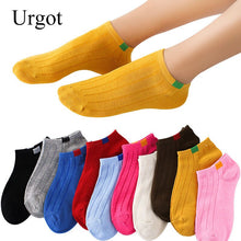 Load image into Gallery viewer, Urgot 10 Pairs/lot Women's Socks Invisible Candy Color Harajuku Sock Shallow Mouth Anti-skidding Cotton Boat Socks Women Meias