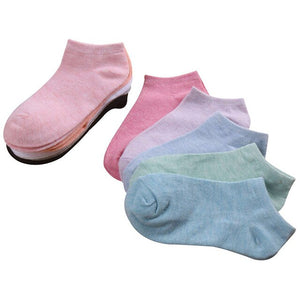 Urgot 6 Pairs/lot Candy Colors Basic Section Women Casual Softable Cute Boat Socks Short Ankle Socks Girls Ladies Low Cut Socks