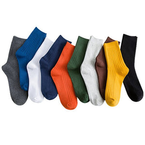 Urgot 3 Pairs/lot Men's Socks All Seasons Double Needles Long Tube Sock Cotton Deodorant Business Fashion Cotton Socks Men Meias