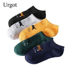 Load image into Gallery viewer, Urgot 5 Pairs/lot Mens Socks Cartoon Dogs Shallow Mouth Boat Socks Summer Autumn Comfort Breathable Cotton Sock Calcetines Meias