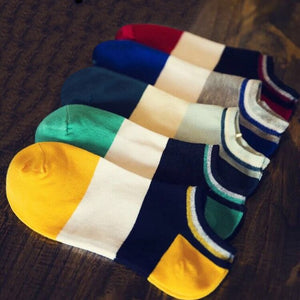 Urgot 5 Pairs/lot Mens Socks Cartoon Dogs Shallow Mouth Boat Socks Summer Autumn Comfort Breathable Cotton Sock Calcetines Meias