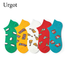 Load image into Gallery viewer, Urgot 6 Pairs Men's Ankle Socks Spring Summer Personality Boat Socks Shallow Mouth Street Sen Cute Male Tide Brand Student Socks
