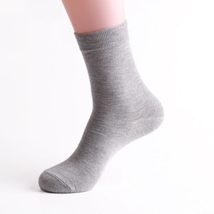 Urgot 10 Pairs Mens Cotton Long Tube Socks Autumn Winter Business Socks Men Solid Color Casual Deodorant Socks Factory Wholesale