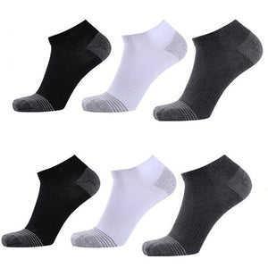 Urgot 6 Pairs Men's Socks Deodorant High Stretchy Quality Cotton Socks Large Big Plus Size 46,47,48 Gift Box Calcetines Hombre