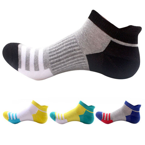 5 Pairs Men Socks Cotton Professional Sporting Sock Protect Feet Breathable Wicking Socks Spring Winter Comfort Socks Calcetines