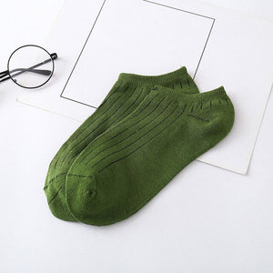 Urgot 10 Pairs Mens Socks Spring Summer Korean 8 Color Fashion Invisible Boat Sock Breathable Japanese College Style Socks Mieas