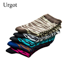 Load image into Gallery viewer, Urgot 5 Pairs Men's Socks Hip Hop Funny Socks Colorful Zebra Stripe Socks Men Harajuku Skateboard Calcetines Meias Spring Autumn