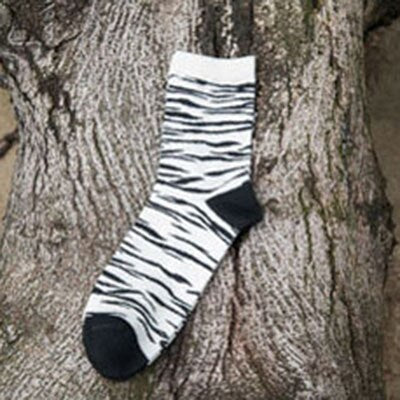 Urgot 5 Pairs Men's Socks Hip Hop Funny Socks Colorful Zebra Stripe Socks Men Harajuku Skateboard Calcetines Meias Spring Autumn