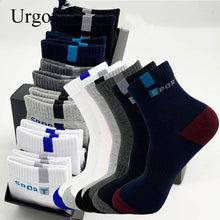 Load image into Gallery viewer, Urgot 6 Pairs Socks Men's Sports Pure Cotton Breathable Short Tube Cotton Boat Socks Four Seasons Letter Cotton Socks Calcetines