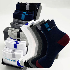 Urgot 6 Pairs Socks Men's Sports Pure Cotton Breathable Short Tube Cotton Boat Socks Four Seasons Letter Cotton Socks Calcetines