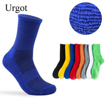 Load image into Gallery viewer, Urgot 5 Pairs Men's Large Size EUR45,46,47 Socks Pure Color Thicked Long Tube Cotton Socks Sports Towel Bottom Casual Terry Sock