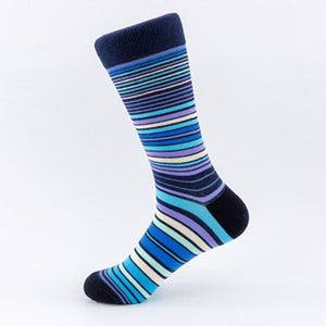 Urgot 5 Pairs Men's Socks EUR 39-46 Large Size Striped Socks Casual Cotton Fashion Street Trends Long Tube Socks Wholesale Meias