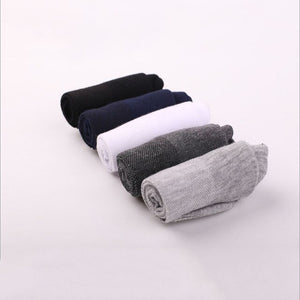 Urgot 10 Pairs Men's Mesh Long Tube Socks Cotton Spring Summer Thin Men's Socks Sweat-absorbent Breathable Business Casual Socks