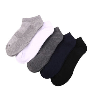 Urgot 10 Pairs Men's Mesh Boat Socks Men Spring Summer Cotton Casual Thin Socks Solid Color Low Cut Waist Short Tube Socks Meias