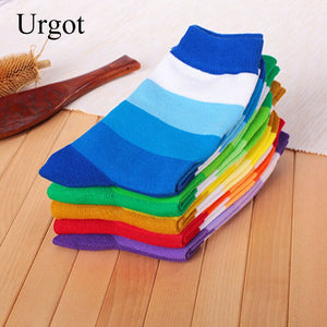 Urgot 5 Pairs Men's Socks Business Casual Happy Socks High Quality Cotton Socks Men Big Large Size EUR 42-48 Calcetines Mujer
