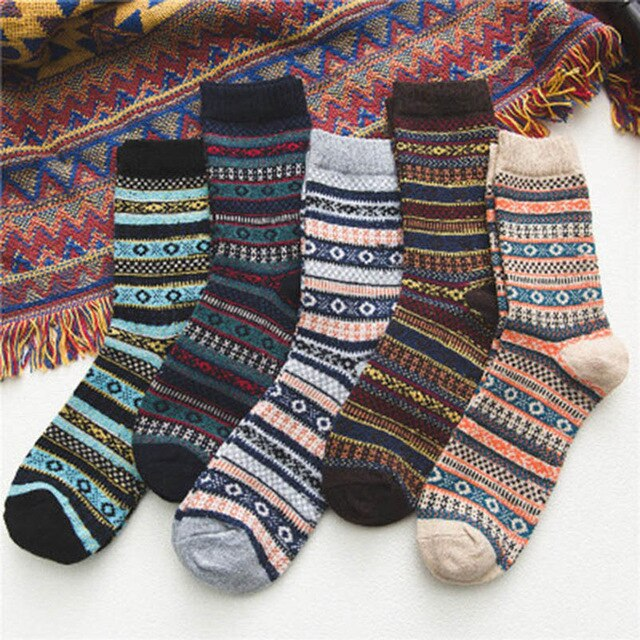Urgot High Quality 5 Pairs Mens Warm Winter Socks Soft Cashmere Warm Sock Rabbit Wool Socks Winter Thermal Breathable Calcetines