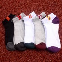 Load image into Gallery viewer, Urgot 5 Pairs Men's Cotton Ankle Sports Socks Breathable Mesh Spring Autumn Fashion Casual Boat Short Socks Boys Adult Durable