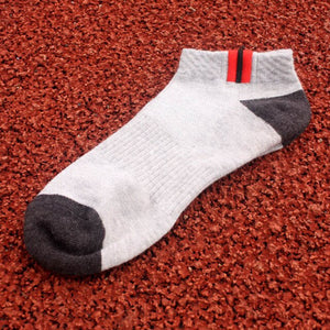 Urgot 5 Pairs Men's Cotton Ankle Sports Socks Breathable Mesh Spring Autumn Fashion Casual Boat Short Socks Boys Adult Durable