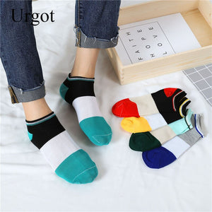 Urgot 10 Pairs Spring Men's Striped Boat Socks Invisible Breathable Summer Men's Socks Male Korean Fashion Sports Sock Sox Meias