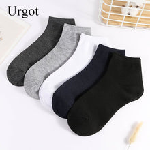 Load image into Gallery viewer, Urgot 5 Pairs Men's Socks Business Casual Fashion Socks Solid Color Spring Autumn Cotton Socks High Quality Meias Calcetines Sox