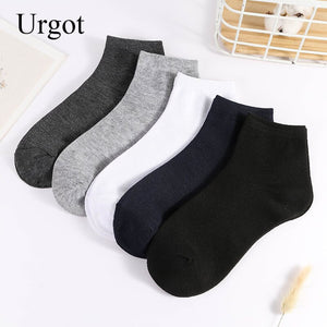 Urgot 5 Pairs Men's Socks Business Casual Fashion Socks Solid Color Spring Autumn Cotton Socks High Quality Meias Calcetines Sox