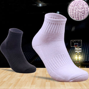 Urgot 5 Pairs Mens Cotton Tube Towel Socks Individual Fashion Spring Sports Basket Ball Sock Solid Color Cotton Socks Calcetines