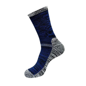 Urgot 5 Pairs Autumn Winter Men's Socks Sports Semi-Pulled Terry Large Size Medium High Tube Thickening Male Men Socks Meias