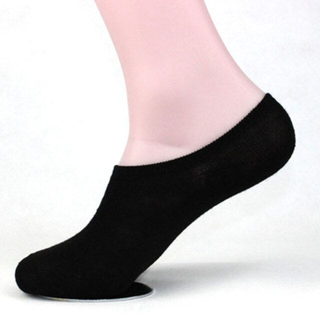 5pairs Men Socks Cotton Solid Color Invisible Boat Socks Summer Comfort Breathable Shallow Mouth Male Black White Sock Meias Sox