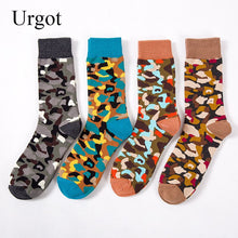 Load image into Gallery viewer, Urgot 5 Pairs Men's Socks New Fashion Happy Socks Personality Tide Wholesale Medium High Tube Men Camouflage Stretch Socks Meias