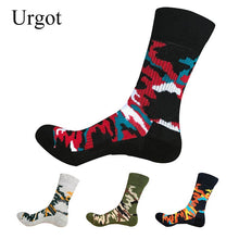 Load image into Gallery viewer, Urgot 5 Pairs/lot Men's Socks High Stretchy Thicken Warm Long Tube Camouflage Terry Towel Socks Men Durable Calcetines Hombre