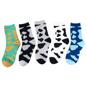 Urgot 5 Pairs Men's Socks Happy Funny Retro Dots Casual Socks Hip-hop Harajuku Skateboard Cotton Socks Men Sox Calcetines Hombre