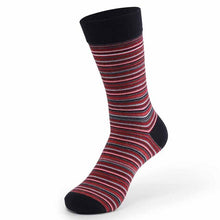 Load image into Gallery viewer, Urgot 5 Pairs Large Big Size EUR 46,47,48 Long Tube Striped Men's Socks Cotton Four Seasons Sports Anti-Friction Tide Sock Meias