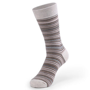 Urgot 5 Pairs Large Big Size EUR 46,47,48 Long Tube Striped Men's Socks Cotton Four Seasons Sports Anti-Friction Tide Sock Meias