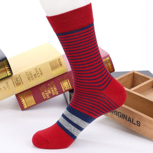 5 Pairs Men Socks Factory Price Colorful Striped Casual Cotton Short Sock Excellent Quality Breathable Male sock Meias Size39-43