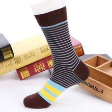 Load image into Gallery viewer, 5 Pairs Men Socks Factory Price Colorful Striped Casual Cotton Short Sock Excellent Quality Breathable Male sock Meias Size39-43