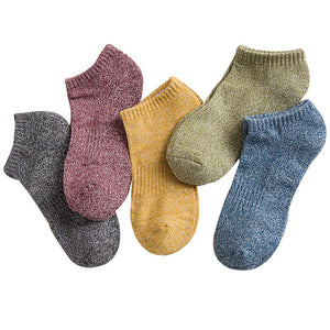 5pairs Men Plus Thick Keep Warm Socks Autumn Winter Comfort Man Cotton Sock Meias Sox Calcetines Pure Color All-match Male Socks