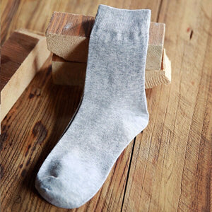 5 Pairs/lot Men's Socks Factory Price Fashion Casual Solid Color Male Short Socks Anti-friction Shaping Cotton Sock Meias 39-43