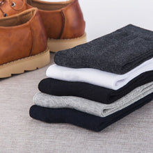 Load image into Gallery viewer, 5 Pairs Men Autumn Winter Warm Cotton Short Socks Black White Pure Color Casual Business Male Sock Comfortable Man Socks Meias