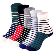 Load image into Gallery viewer, 5 Pairs Men's Long Socks With Print Colorful Spring Autumn Soft Warm Funny Socks Men Striped Art Socks Hip Hop Meias Calcetines