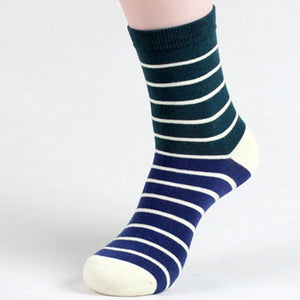 5 Pairs Men's Long Socks With Print Colorful Spring Autumn Soft Warm Funny Socks Men Striped Art Socks Hip Hop Meias Calcetines
