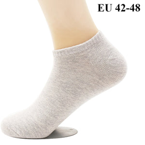 10 PCS=5 Pairs Men's Cotton Dress Socks Plus Large Big Size 44, 45, 46, 47, 48, Business Casual Socks Calcetines Black Sox Meias